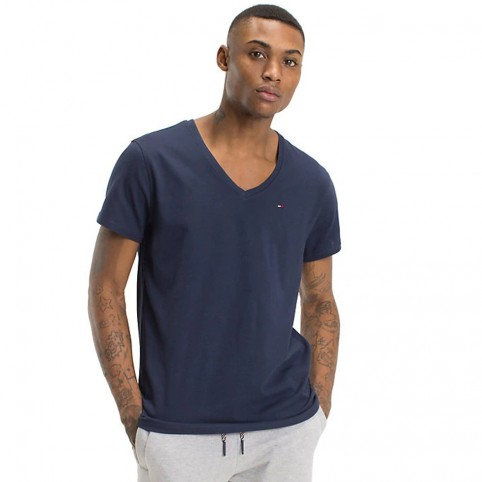 T-Shirt COL V TOMMY JEANS