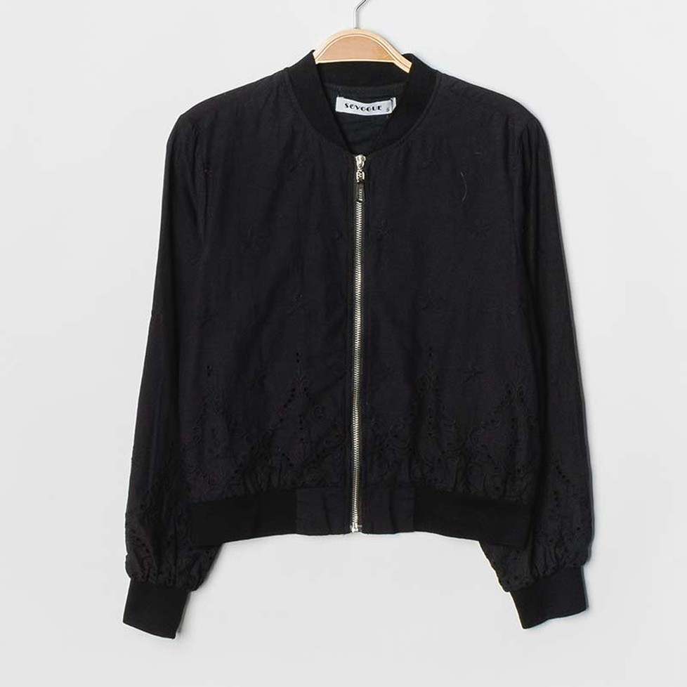 Bomber Broderie Anglaise