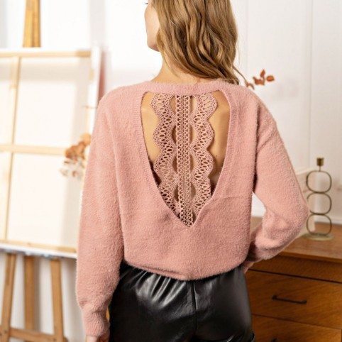 Pull Doux Dos Nu