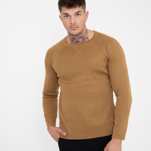 Pull maille col rond
