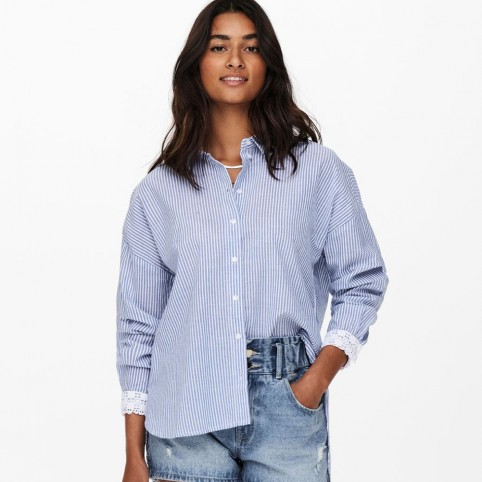 Chemise Only à rayures